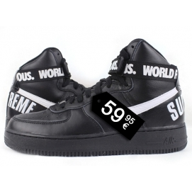 Zapatillas NK Air Force 1 x Suprem Negro (Altas)