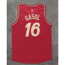 Camiseta Navidad 2015 Chicago Bulls Gasol