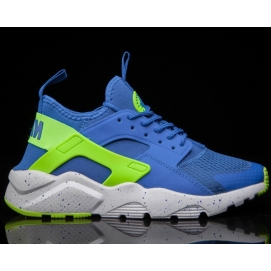 Zapatillas NK Air Huarache Ultra Azul y Amarillo Fluor