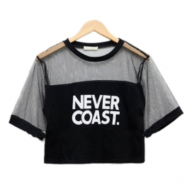 Top Corto Never Coast - Negro