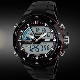 Reloj de Pulsera - Negro (Anillo Rojo)