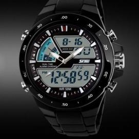 Reloj de Pulsera - Negro (Anillo Blanco)