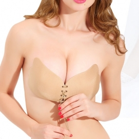 Sujetador Sin Mangas Push Up Beige (Transpirable)