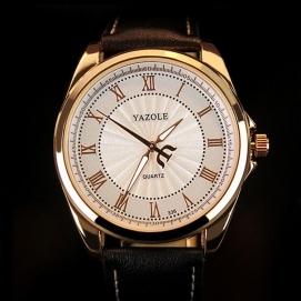 Reloj de Pulsera Yazole - Negro (Dial Blanco)