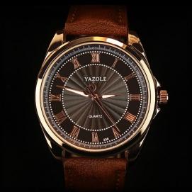 Reloj de Pulsera Yazole - Marrón (Dial Negro)