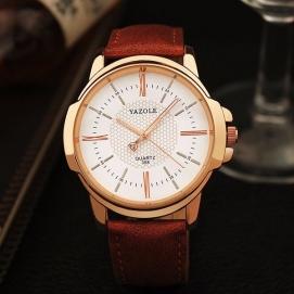 Reloj de Pulsera Yazole - Marrón (Dial Blanco)