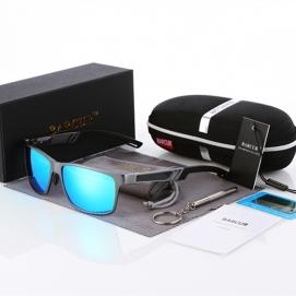 Gafas de Sol Polarizadas BARCUR - Gris (Lentes Azules)