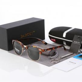 Gafas de Sol Polarizadas BARCUR - Carey (Lentes Verdosas)