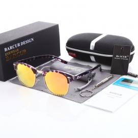 Gafas de Sol Polarizadas BARCUR - Carey Morado (Lentes Rosas)