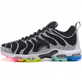 Zapatillas NK Air max TN Plus Blanco y Negro (Suela Multicolor)