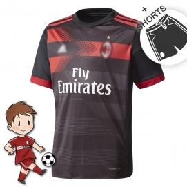 AD AC Milán 3ª Equipación Niños 2017-2018