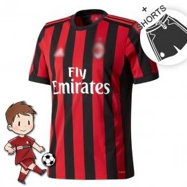 AD AC Milán 1ª Equipación Niños 2017-2018