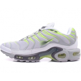 Zapatillas NK Air max TN Blanco, Gris y Verde Fluor