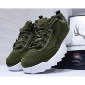 Zapatillas FLA Disruptor II Verde Militar (Suede)