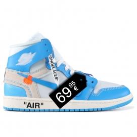 "Zapatillas NK Air Jordan 1 x Off White ""UNC"""