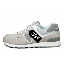 Zapatillas NB 574 Gris y Blanco