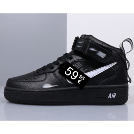 Zapatillas NK Air Force 1 Negro (Altas)