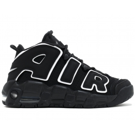 Zapatillas NK Air More Uptempo Negro y Blanco