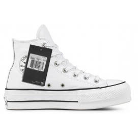 Zapatillas CV All Star polipiel plataformas altas blancas