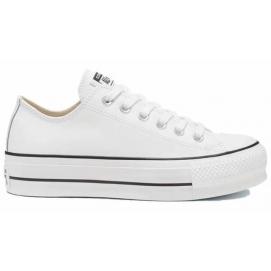 Zapatillas CV All Star polipiel plataformas bajas  blancas