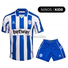 Camiseta KLME Deportivo Alavés 1ª Equipación Niño 2020-2021