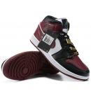 Zapatillas NK Air Jordan 1 Mid Rojas y Negras