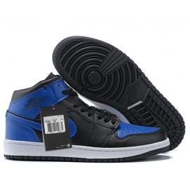 Zapatillas NK Air Jordan 1 Mid Azul & Negro