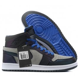 Zapatillas NK Air Jordan 1 Gris & Azul