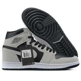 Zapatillas NK Air Jordan 1 Grises & Negras