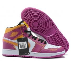 NK A. Jordan 1 Mid Pink & Yellow