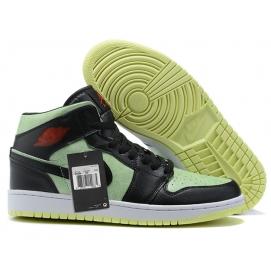 NK A. Jordan 1 Mid Green & Black