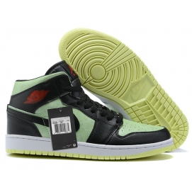 Zapatillas NK Air Jordan 1 Verdes & Negras