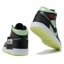 Zapatillas NK Air Jordan 1 Verdes & Negras