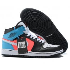 NK A. Jordan 1 Black & Pink & Blue