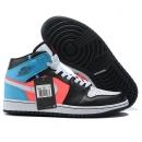 Zapatillas NK Air Jordan 1 Negras & Azul & Rosas