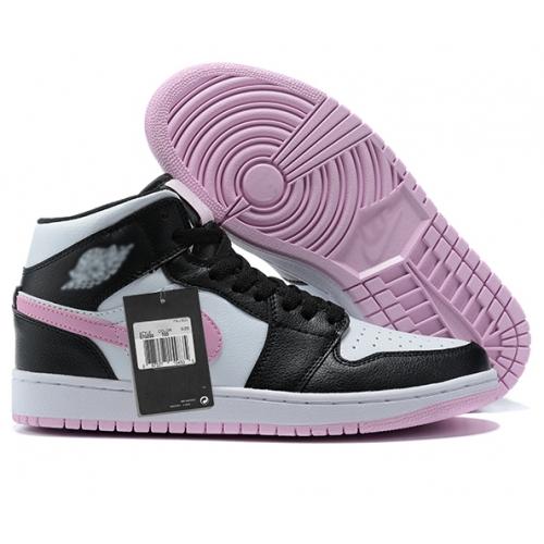 Zapatillas NK Air Jordan 1 Rosas & Negras