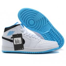 NK A. Jordan 1 Mid White & Blue