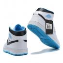 Zapatillas NK Air Jordan 1 Blancas & Celeste