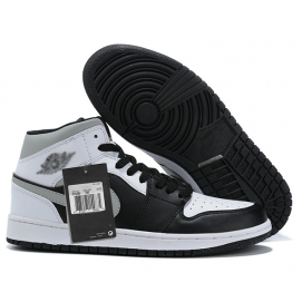 Zapatillas NK Air Jordan 1 Negras & Grises