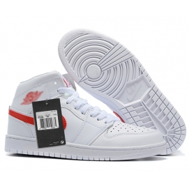 Zapatillas NK Air Jordan 1 Blanca & Roja