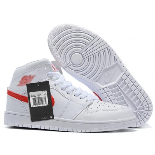 Zapatillas NK Air Jordan 1 Blanca & Roja