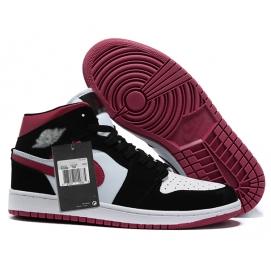 Zapatillas NK Air Jordan 1 Burdeos & Negras