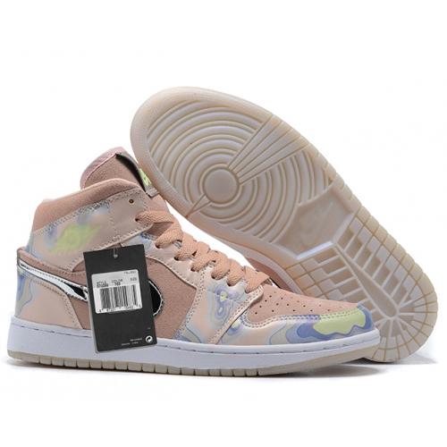 Zapatillas NK Air Jordan 1 Rosas Estampadas