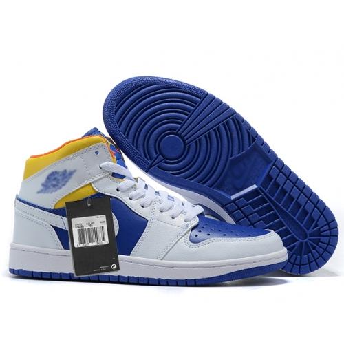 Zapatillas NK Air Jordan 1 Azul & Blancas
