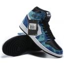 Zapatillas NK Air Jordan 1 Azules Estampadas