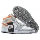 Zapatillas NK Air Jordan 1 Naranjas & Grises