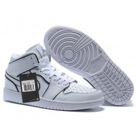 Zapatillas NK Air Jordan 1 Blancas Relieve