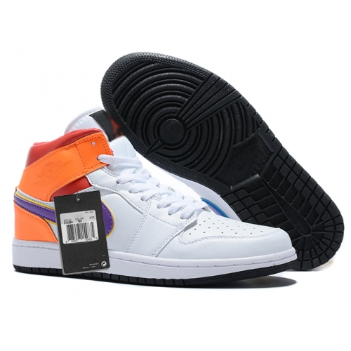 Zapatillas NK Air Jordan 1 Naranjas & Moradas