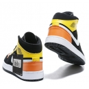 Zapatillas NK Air Jordan 1 Negras & Amarillas & Naranjas