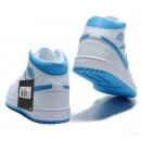 Zapatillas NK Air Jordan 1 Celestes & Blancas